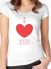 I LOVE YOU. Women's Fitted Scoop T-Shirt