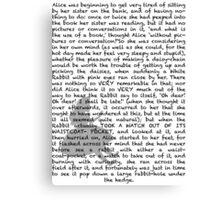 Read a book: Alice in Wonderland Canvas Print