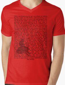 Read a book: Alice in Wonderland Mens V-Neck T-Shirt