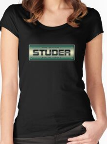 Old Vintage Studer Women's Fitted Scoop T-Shirt
