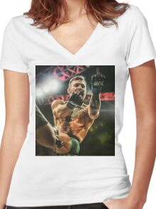 Notorious Conor McGregor Women's Fitted V-Neck T-Shirt