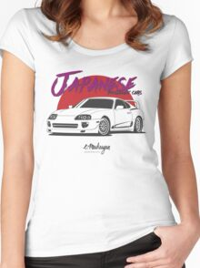 Japanese nostalgic cars (Supra) Women's Fitted Scoop T-Shirt