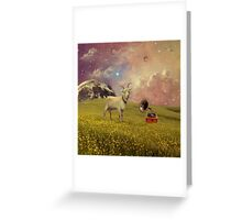 Transdimensional Space Goat Greeting Card
