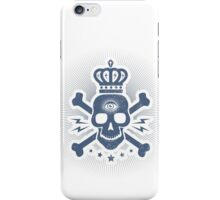 Skull with crown iPhone Case/Skin