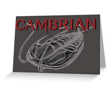 Cambrian Trilobite Greeting Card