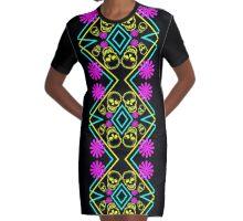 Cath Sola Geo 8 Graphic T-Shirt Dress
