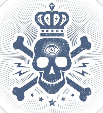 Skull with crown Sticker