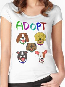 ADOPT DOGS Women's Fitted Scoop T-Shirt