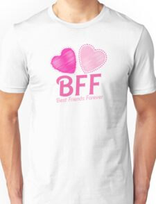 BEST FRIENDS FOREVER BFF cute hearts Unisex T-Shirt