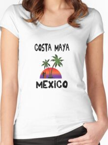 Costa Maya Mexico. Women's Fitted Scoop T-Shirt