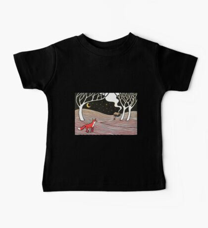 Stargazing - Fox in the Night Baby Tee