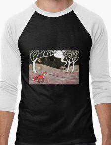 Stargazing - Fox in the Night Men's Baseball ¾ T-Shirt