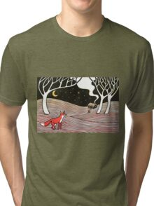 Stargazing - Fox in the Night Tri-blend T-Shirt