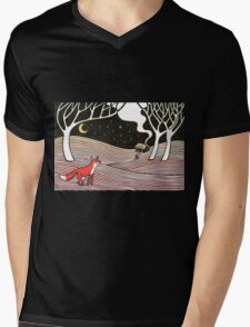Stargazing - Fox in the Night Mens V-Neck T-Shirt