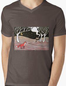 Stargazing - Fox in the Night Mens V-Neck T-Shirt