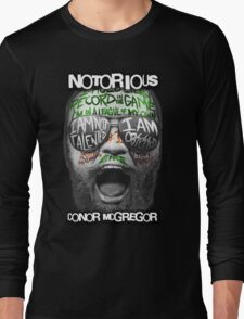 Conor McGregor Face Long Sleeve T-Shirt