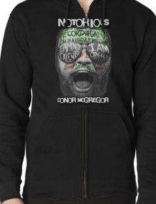 Conor McGregor Face Zipped Hoodie