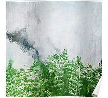 Fern on Marble Poster