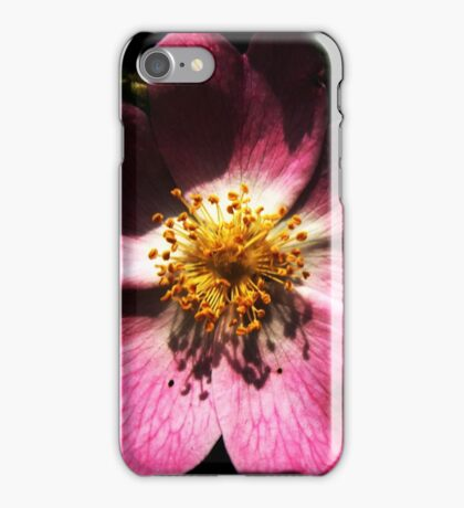 Bright Pink Macro Detailed Flower iPhone Case/Skin