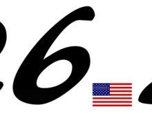 26.2 American Flag. Sticker