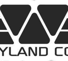Weyland Corp logo - Alien - Grey Sticker