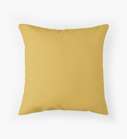 Designer Fall 2016 Color Trends-Spicy Mustard Yellow Throw Pillow