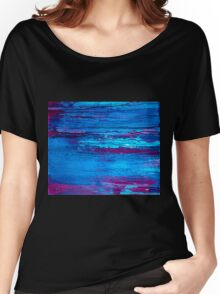 Abstract Marine Women's Relaxed Fit T-Shirt