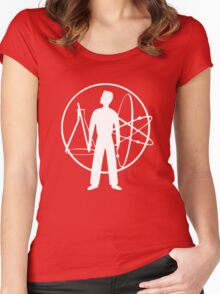 Duty Now For The Future - White Women's Fitted Scoop T-Shirt