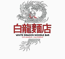 White Dragon Noodle Bar - ½ Black Cut Cantonese Variant Womens Fitted T-Shirt