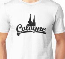 Cologne Classic mit Kölner Dom Schwarz Unisex T-Shirt