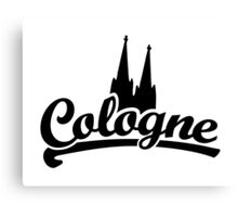 Cologne Classic mit Kölner Dom Schwarz Canvas Print