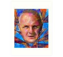 Kinsignium - portrait of Anthony Hopkins Art Print