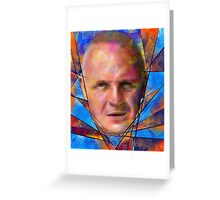 Kinsignium - portrait of Anthony Hopkins Greeting Card