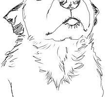 Loving dog by Ruca