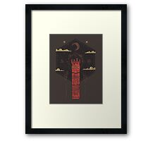 The Crimson Tower Framed Print