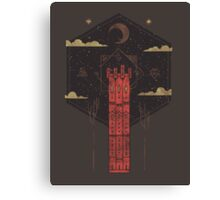 The Crimson Tower Canvas Print