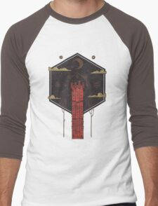 The Crimson Tower Men's Baseball ¾ T-Shirt
