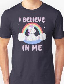 Cute Unicorn I Believe In Me T Shirt Unisex T-Shirt