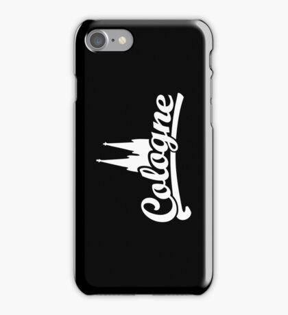 Cologne Classic mit Kölner Dom (Schwarz/Weiß) iPhone Case/Skin