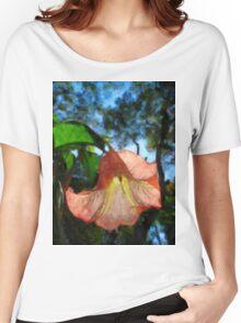 peach flower Women's Relaxed Fit T-Shirt