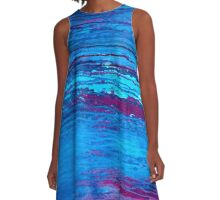 Abstract Marine A-Line Dress