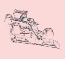 formula one, formula car colored One Piece - Long Sleeve