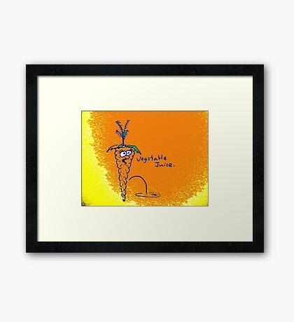 Vegetable Juice Framed Print