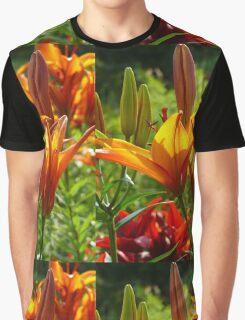 Orange and Yellow Iris (Orange und gelbe Lilien) Graphic T-Shirt
