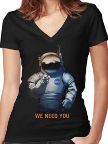 Nasa - A Journey To Mars Women's Fitted V-Neck T-Shirt