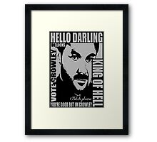 King of hell Framed Print