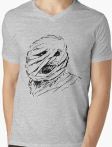 Scary Old Horror Mummy Mens V-Neck T-Shirt
