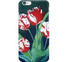 Red and white tulips iPhone Case/Skin
