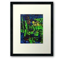 Blocks - Fields Framed Print
