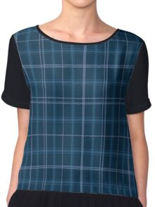 01369 Covenant College Tartan  Chiffon Top